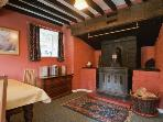 Inglenook fireplaces and exposed beams