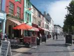 Interesting eateries in the Square at Caernarfon