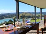 Dining on Deck: view to East over Waitapu Bay
