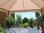 Pergola in garden, for perfect sunny days