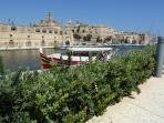 Valletta ferry stop, just outside Templar House