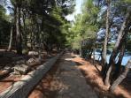 Hiking rod to Soline beach