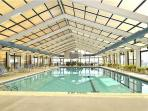 Olympic size indoor heated pool open year around