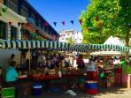 Le marché de saint Jean de luz. Tous les mardi et vendredi.