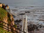 Climb the famous Jacob's Ladder at Sidmouth.