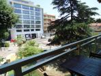 View from balcony towards Avenue Gaston Bourgeois