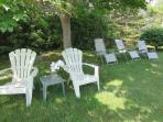 Relax on one of the lounge chairs or read your favorite books in a cool, shaded area  - 6 Breezy Way South Harwich Cape ...