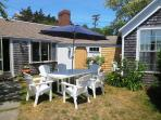 gas grill and enclosed outdoor shower - 51 Eliphamets Lane Chatham (Captains House) Cape Cod New England Vacation...