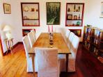 Dining room with logburning stove
