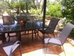patio in Sicilian typical garden