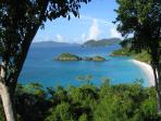 Beautiful Trunk Bay from the road