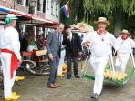 Traditional cheese market in Edam