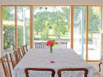 The dining table in summertime