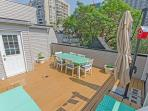 A rooftop deck for all your sunning needs.