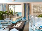 Elegant and beachy dining table