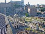 The Roman Forum - 20 minutes by Tram # 8