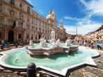 Piazza Navona - 20 minutes by Tram # 8