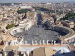 St. Peter Square in Vatican  - 10 minutes by Train