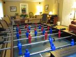 Foosball and air-hockey for family-fun competition!