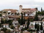 View of the neighborhood and our Apartment from La Alhambra