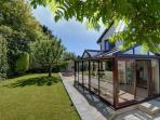 Private enclosed garden - a positive suntrap