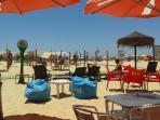 Lots of beach bars/restaurants in Monte Gordo