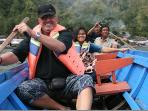 trip to traditional village Terunyan, with Mr. Wim from Holland