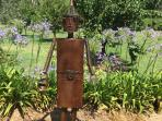 Tin Man -  Looking after the vegetable patch at GG's By The River