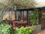 natuurlijk overdekt terrasje