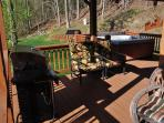 Relax on the Covered Porch While You Cook