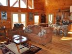 The Open Layout with Vaulted Ceilings Lets in Mountain Sunshine