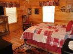 The Mainfloor Third Bedroom Also Has a Queen Bed