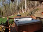 Enjoy Starry Skies and Shifting Clouds over the Mountains from the Hot Tub