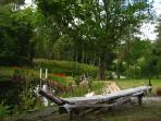 - Et les milles recoins magique du jardin : étang, eau de source, poissons et nénuphars