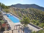 Relax by the pool, at an altitude of 1050 meters, with a view of the highest mountain of Crete..