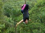 Ziplining in the middle of the jungle! One of the many many tours you can do while here!