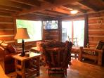 Lodge Living Room with large cable TV, DVD player, Wifi and Sofa Sleeper