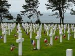 vue du cimetière américain de colleville sur mer à 1KM de la maison de la libération 6 JUIN 1944