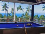 Covered pool table