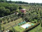 aerial view of Villa Delizia