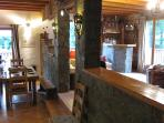 Bar and dining room at Chalet3Valleys