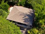 Aerial view of our Bali Hi Guest House.  Located less than 75' from the main house and sleeps 8.