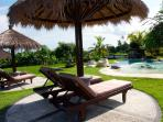 Sunbath near the pool