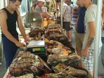 All year round regional market takes place on every Tuesday. 1 min walk from the house