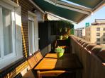 Part from the spectacular terrace (14m2), with two awnings