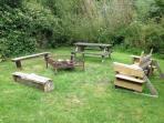 Campfire circle in the garden