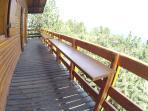 Table amovible sur balcon