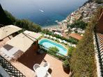 Large terraces overlook the sea and typical whitewashed houses. YPI AFF