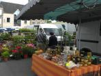 Market day in nearby Brécey