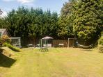 Large garden area.
